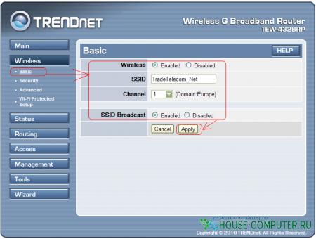 Настройка роутера Trendnet TEW-432BRP