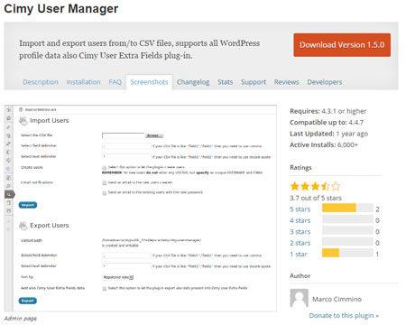 Как Импортировать И Экспортировать Пользователей В WordPress. Плагин Cimy User Manager.